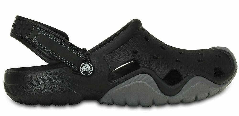 Crocs Homme Sport-freizeit-clog Chaussures Homme 's Swiftwater Clog Noir Gris