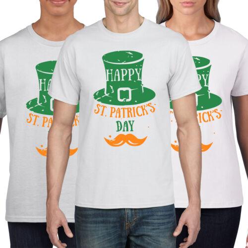 Happ St Patricks Day T Shirt Moustache Hipster Irish Ireland T-Shirt Gift P31