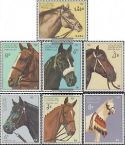 Laos-1003-1009-kompl-Ausg-postfrisch-1987-Pferde