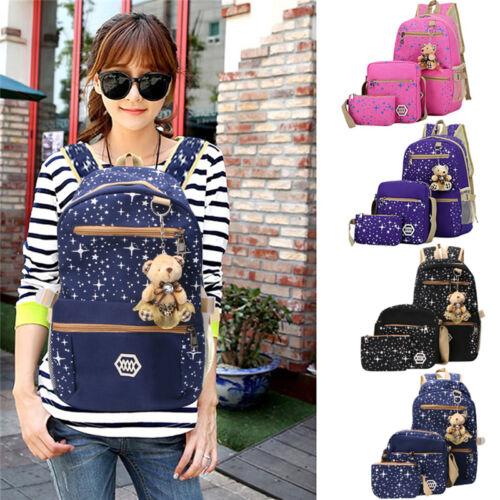 Details about  /Women Fashion bags Backpack Girl School  Shoulder Bag Rucksack Canvas Leisure