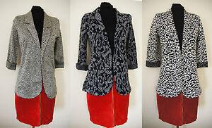 ex-NEXT-Blazer-Print-3-4-Sleeve-Jersey-Blazer-Jacket