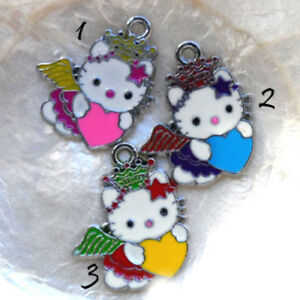CHAT-HELLO-KITTY-20-30-MM-ZODIAQUE-VIERGE-BRELOQUE-METAL-amp-EMAIL-COLORE