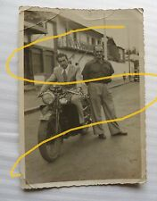 FOTOGRAFIA FOTO MOTO MOTOCICLETTA ADDIS ABEBA 1948 COLONIE AFRICA GUZZI GILERA