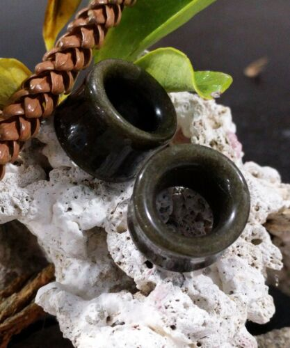 """Chair Tunnel Double Flare Round Stone Ear Plug Organic Golden Obsidian 2G-1/"""" US"""