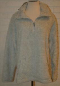 Women's True Craft Light Gray Long Sleeve Pullover Sherpa ...