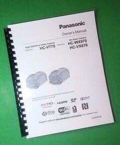 laser printed panasonic hc v770 hc v870m camera 246 page owners rh ebay com Panasonic Owner's Manual panasonic laser marking manual