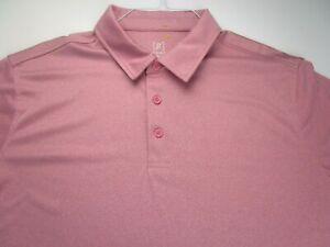 George-Polo-Golf-Shirt-Adult-2XL-XXL-Pink-Short-Sleeve-Golfer-Collar-Casual-Mens