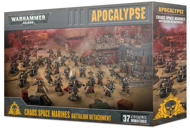 Chaos Space Marines Battalion DetachHommest 43-64  - Apocalypse - Warhammer 40,000  marque
