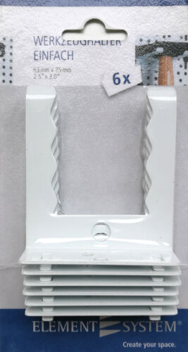 Werkzeughalter Haken Metall weiß  3 Ausführungen für Lochwand Werkstatt SB-Pack