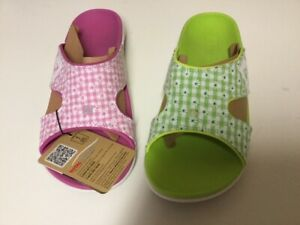 Spenco-Total-Support-Kholo-Sandal-Green-and-Pink-Gingham-Size-10-Womens-New-2Pr