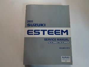 2002 suzuki esteem sy416 sy418 service repair manual vol 2 light rh ebay com Kohler Engines Service Manual Detroit Diesel Engine Manuals