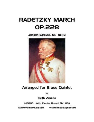in a lower key Radetzky March for Brass Quintet New.