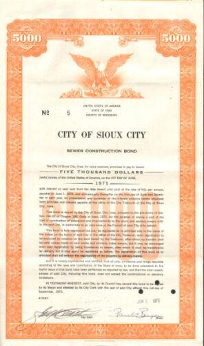 Sioux City /> Woodbury Iowa sewer construction bond cert