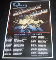 Status Quo concert poster UK Tour 1979 new A3 size repro