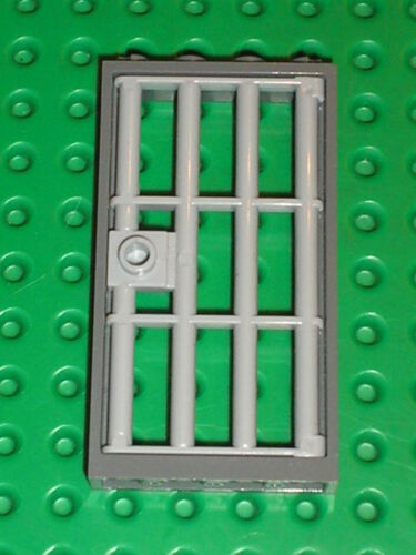 LEGO MdStone Door 1 x 4 x 6 Barred ref 60621 Set 7744 7594 6242 7288 8635 7048