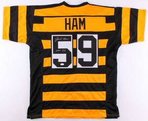 b5e1824eada Jack Ham Signed Steelers Bumble Bee Throwback Jersey Inscribed