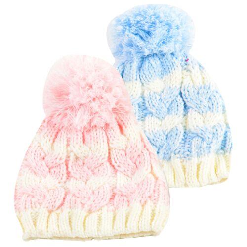 Newborn Kids Boys Girls Cute /& Fashionable Winter Warm Beanie Pom Pom Bobble Hat