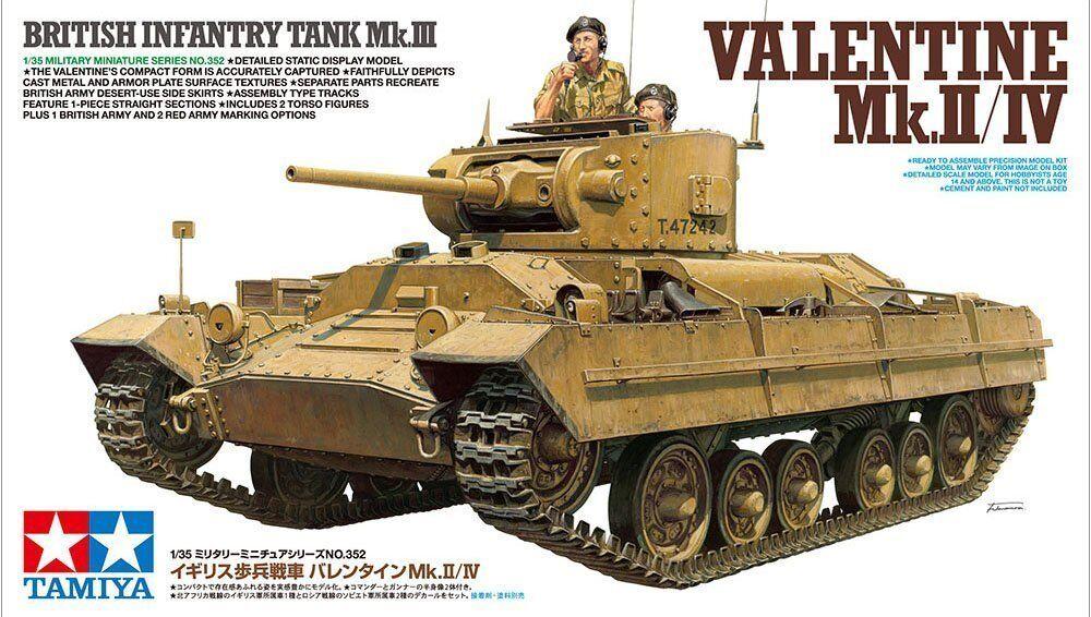 Tamiya 1 35 British Infantry Tank Mk.III Valentine Mk.II IV