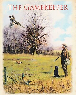 1958 Miller Beer and Pheasant Hunting reproduction metal tin sign 8 x 12