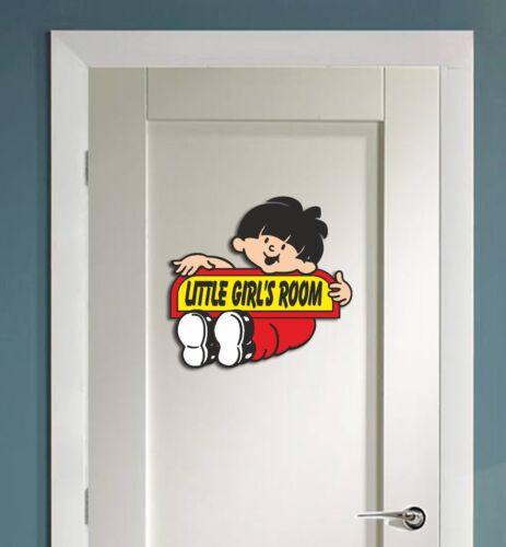 Stylish Little Girls room Door Sign Toilet Ladies  Sticker Decal wash room