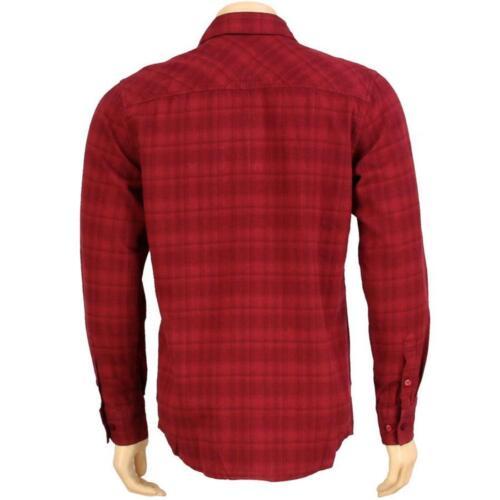 burgundy $64.99 The Hundreds Dark Flannel Long Sleeve Shirt T11F108102BRG
