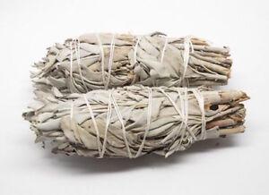 """CALIFORNIA WHITE - Sage Smudge Stick 20 Bundle - 3-4 """" Small"""