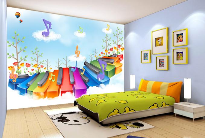 3D Piano Key 55 Wallpaper Murals Wall Print Wallpaper Mural AJ WALL AU Kyra