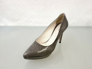 PRADA Designer Leder Pumps Gr.39,5 Schuhe Glattleder Leather Shoes Grau