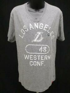 New Los Angeles Lakers Size Mens size S Small Soft V-Neck Gray Shirt MSRP