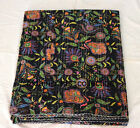 Ethnic Handmade Cotton Queen Kantha Quilt Indian Vintage Bedspread Blanket Throw