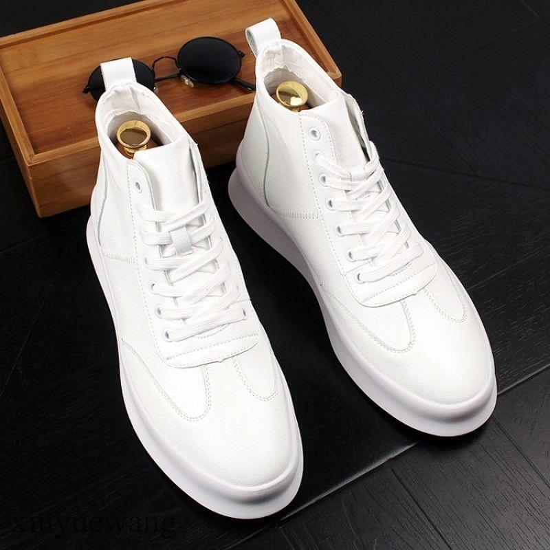 Hot Mens Leather Lace up Fashion Athletics Sneakers Trainers Casual shoes Size 8