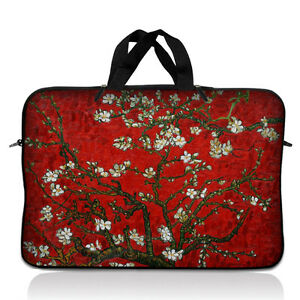 """17/"""" 17.3/"""" Laptop Notebook Sleeve Bag Case w Handle Red Almond Trees 17-SD61"""