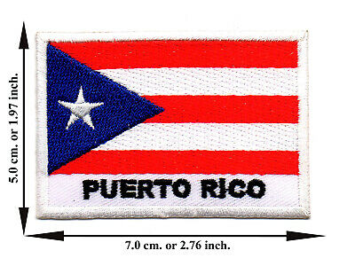 Panama Flag Travel Country Iron On Patch Sew Applique Embroidered Crafts