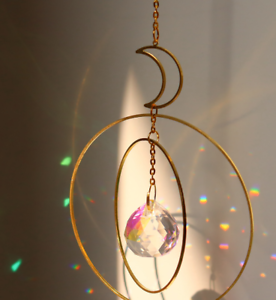 Moon Crystals Sun Catchers Ornament Prisms for Garden