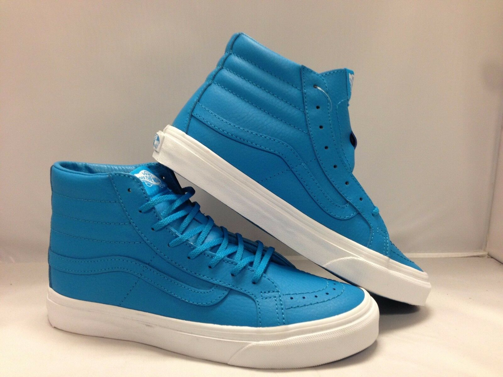 Vans Men's shoes  Sk8-Hi Slim'' (Neon Leather) neon bluee