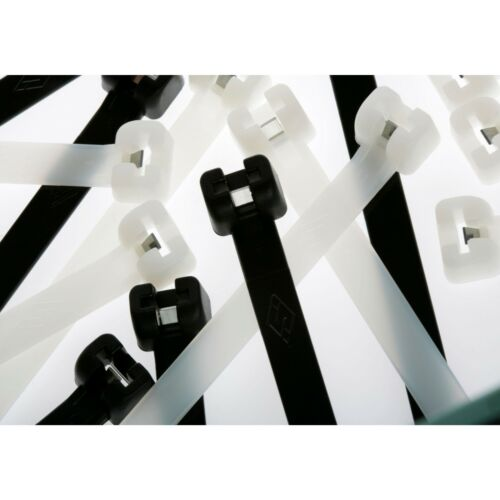 ITALIAN  Made Stainless Tooth Cable Ties//Tie Wraps// Zip Ties 8 Inch 100 Pack