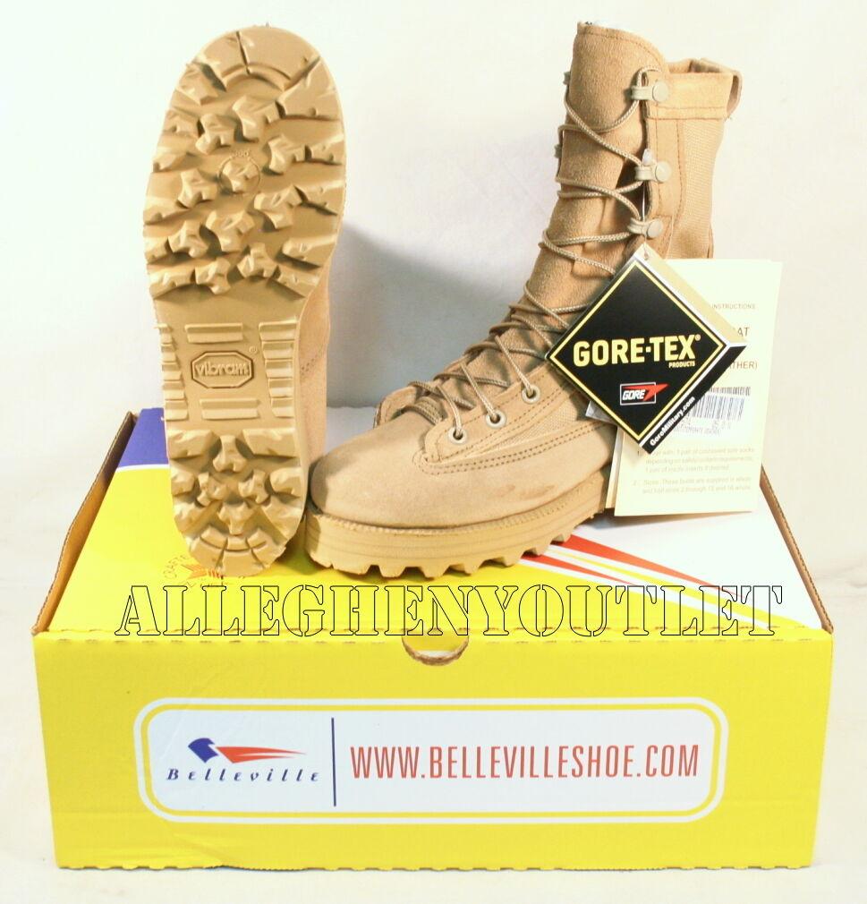 NEW US Military 790 Temperate Weather Goretex Combat Boots Vibram Sole TAN