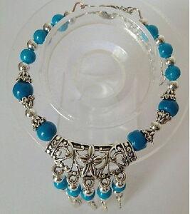 030 Beautiful Tibet Silver Jewelry Turquoise bracelet
