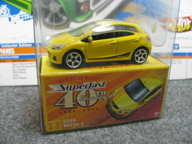 1 64 matchbox MAZDA 2 40th annv. diecast yellow