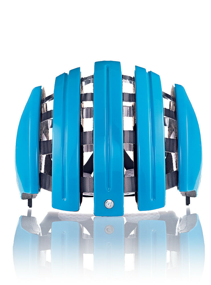 Carrera Bike Helmet Foldable _C blue Plain Colour Washable Interior Pad