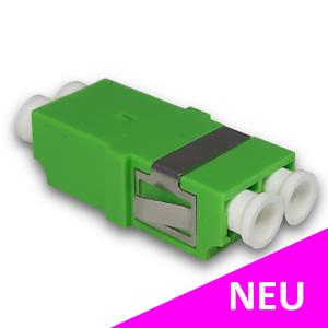 LWL Kupplung LC/APC Duplex Singlemode ohne Flansch für Spleißboxen   grün