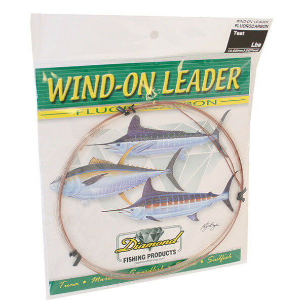 Momoi Diamond Flugoldcarbon Wind On Leaders-25 Ft-Clear , 180 Lb.