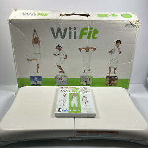 Wii Fit Balance Board In Box & Wii Fit Plus CIB Complete Tested Working