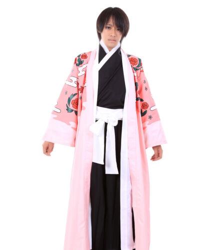 Bleach Cosplay Costume Gotei 13 Squad 8 Division Captain Shunsui Kyouraku Cloak