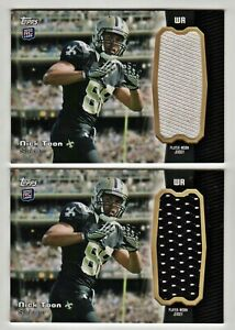Details about NICK TOON (2) LOT GU Jersey RC 2012 Topps Rookie Jumbo Relic Saints Wisconsin (2