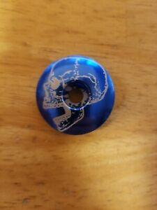 """Screaming Skull Bicycle Headset Top Cap 1 1//8/"""" Black Stem Cap Bolt Bike"""