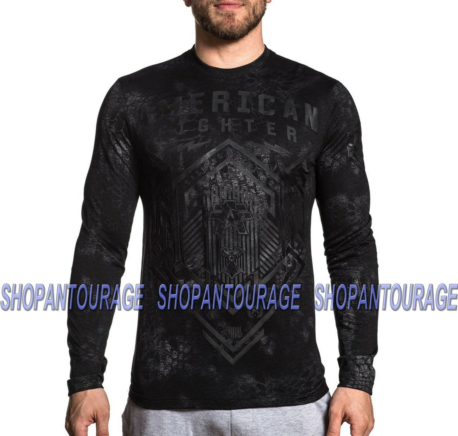 American Fighter Warsaw FM7623 Men`s Sport Graphic Kryptek T-shirt By Affliction