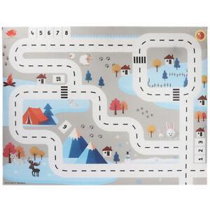 Jouet Voiture Tapis Carte Aire de Jeux pour Enfants Tapis Pad Urbain Carte  E8W9