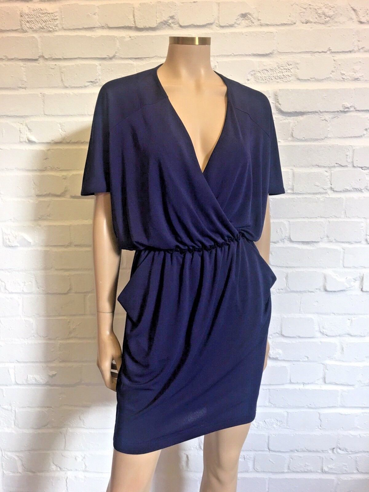 Rachel Roy Stunning Jersey Dress Navy bluee Large Size XS