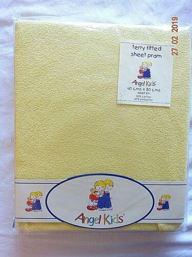 Cochecito Colchón Equipada Stretch Terry Sábana ajustable amarillo blanco azul 40 X 80 Cm